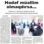"""""""Hədəf müəllim olmaqdırsa..."""" məqalə / Azərbaycan müəllimi qəzeti №15-2017"""