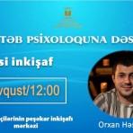 """""""Məktəb psixoloquna dəstək"""" layihəsi çərçivəsində """"Şəxsi inkişaf"""" seminarı"""